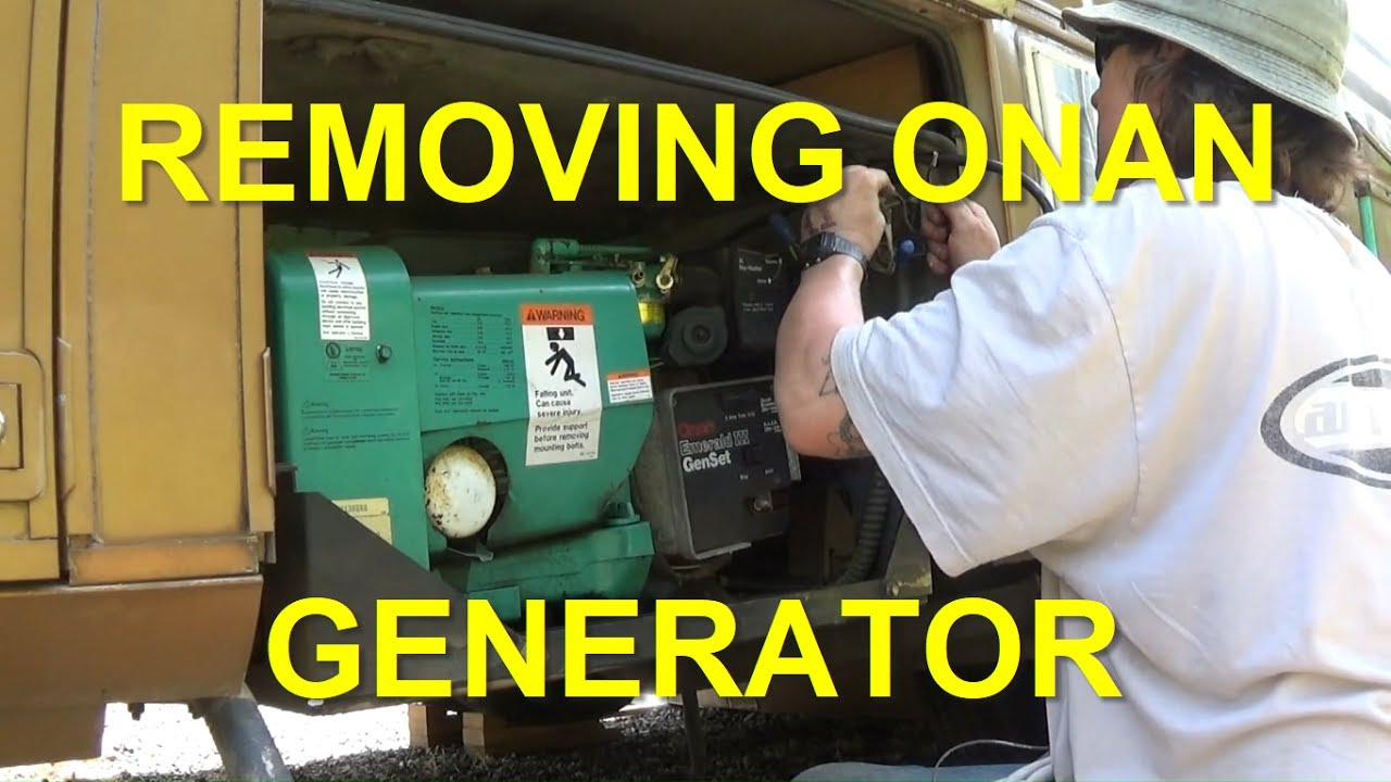 weekend warrior generator wiring diagram removing onan 6 5kw generator from rv youtube  removing onan 6 5kw generator from rv