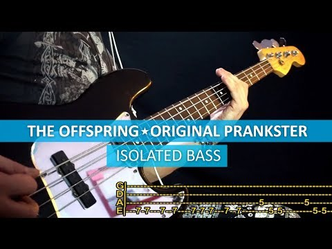 [isolated bass] The Offspring - Original prankster / bass cover / playalong with TAB