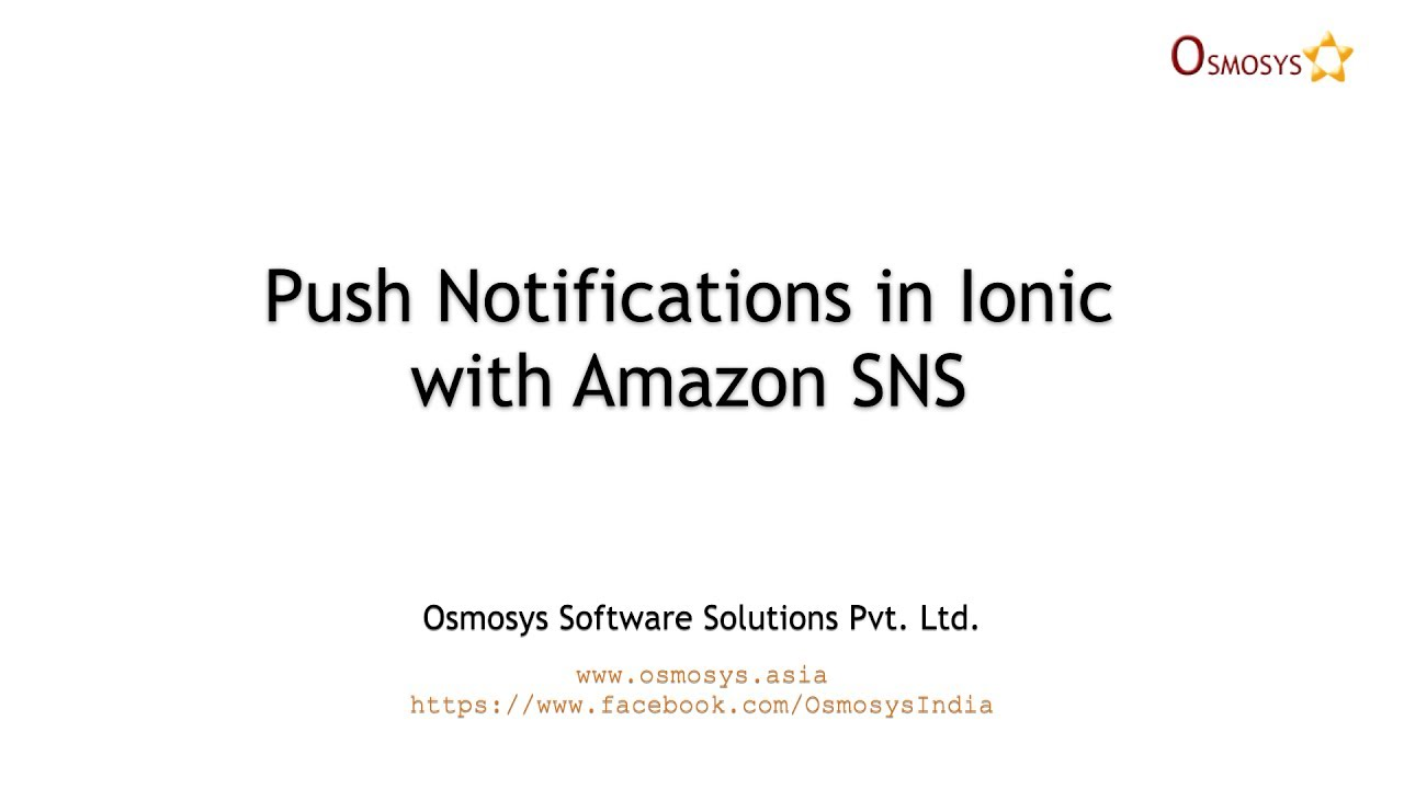 Push Notifications in Ionic with Amazon SNS