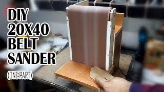 20x41 cm DIY Belt Sander- (old video one part)-Ev yapımı bant zımpara (tek parça)