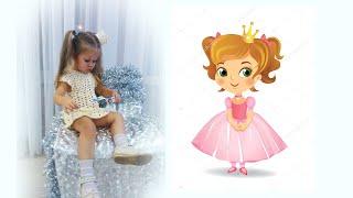 Платье принцессы Вязание крючком Crochet Princess Dress