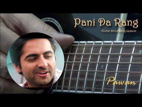 Guitar pani da guitar tabs : Pani Da Rang - Vicky Donor - Guitar Chords Lesson with 5 Strumming ...