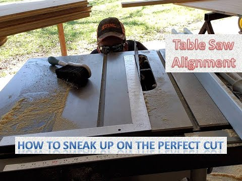 Delta 36-725 Table Saw - Aligning The Blade