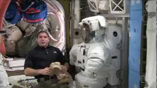Space Station Live: Getting a U.S. Spacesuit Ready for a Spacewalk