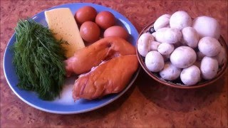 "Салат Ночь. Рецепт салата ""Ночь"" с курицей.  http://leoanta.ru/"
