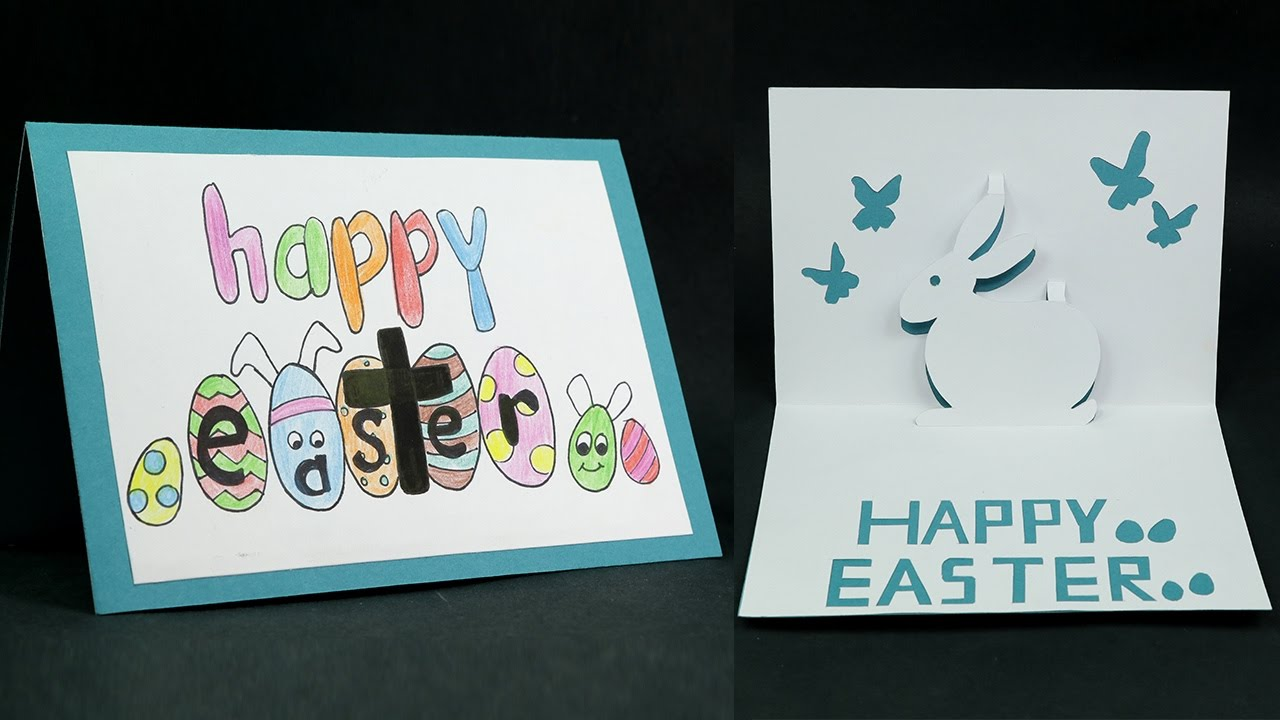 DIY Happy Easter Card How to Make Pop Up Easter Card YouTube – Easter Pop Up Cards