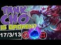 TANK CHO IS BROKEN?? | INSANE CARRY | NEW RUNES CHO'GATH TOP BUILD | LoL - NEW RUNES RANKED SEASON 8