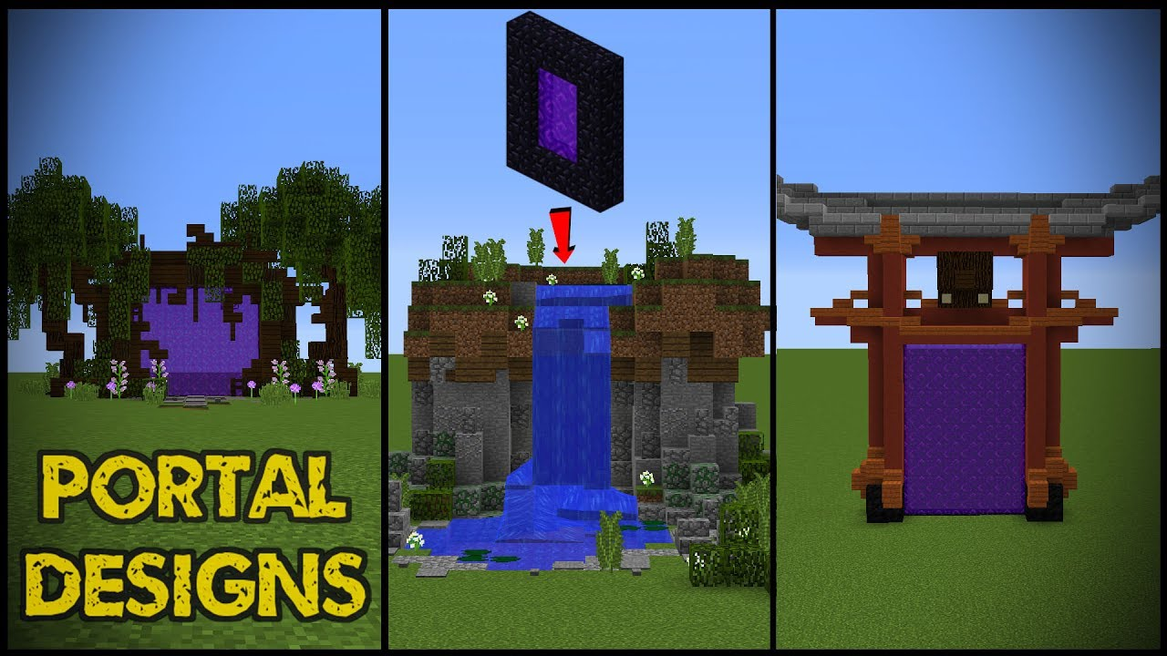 Minecraft How To Make A Nether Portal Room