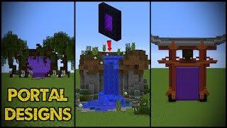 11 Minecraft Nether Portal Designs!