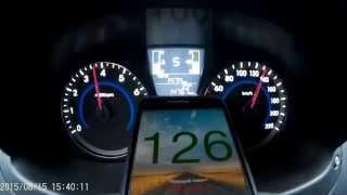 Разгон 0 180 Hyundai Solaris 1.6 2015 6AT HB смотреть
