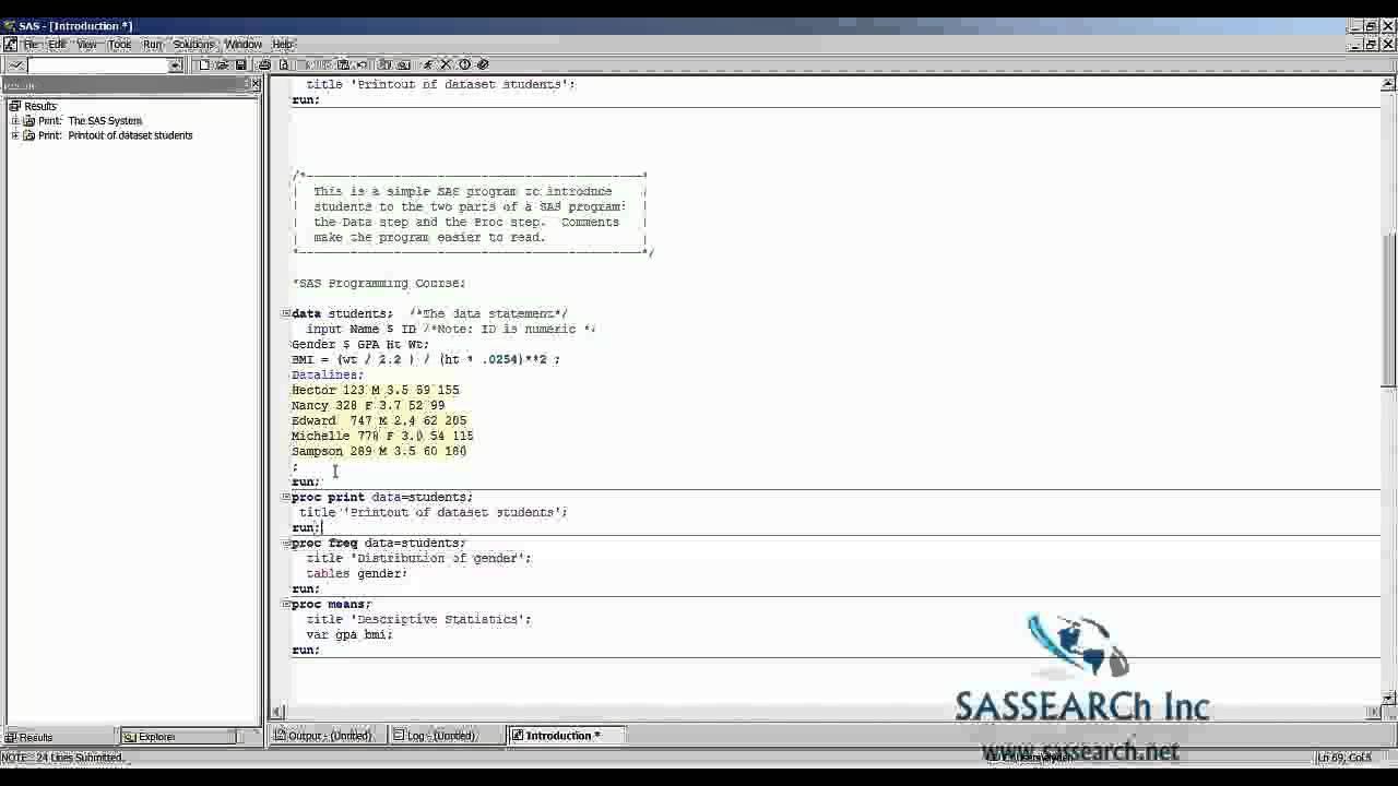 Base Sas Training Day 3 Introduction To Sas Advance Youtube