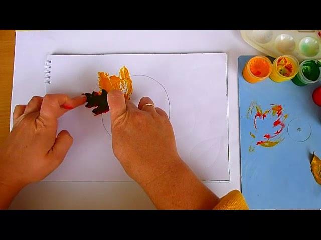 2 клас. Мистецтво. Композиція з відтисків листочків