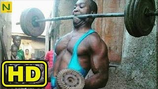 Primitive African muscle training method is too amazing!