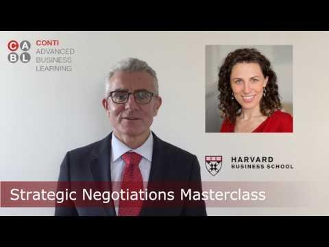 Harvard Strategic Negotiations Masterclass Geneva