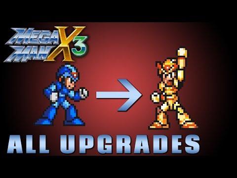 Megaman X3 - All Upgrades