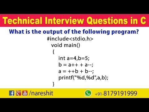Modify Operators | C Technical Interview Questions and Answers | Mr. Srinivas