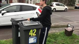 Putting the bins out for bin collection