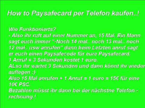paysafecard per telefonrechnung bezahlen