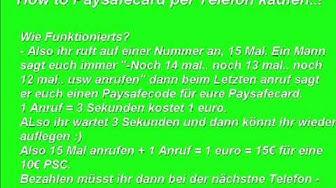 How To: Paysafecard per Telefon kaufen.!