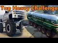 Spin Tires | TOP HEAVY CHALLENGE - VW Samba, MONSTER Chevy, and TRAIN!? video & mp3