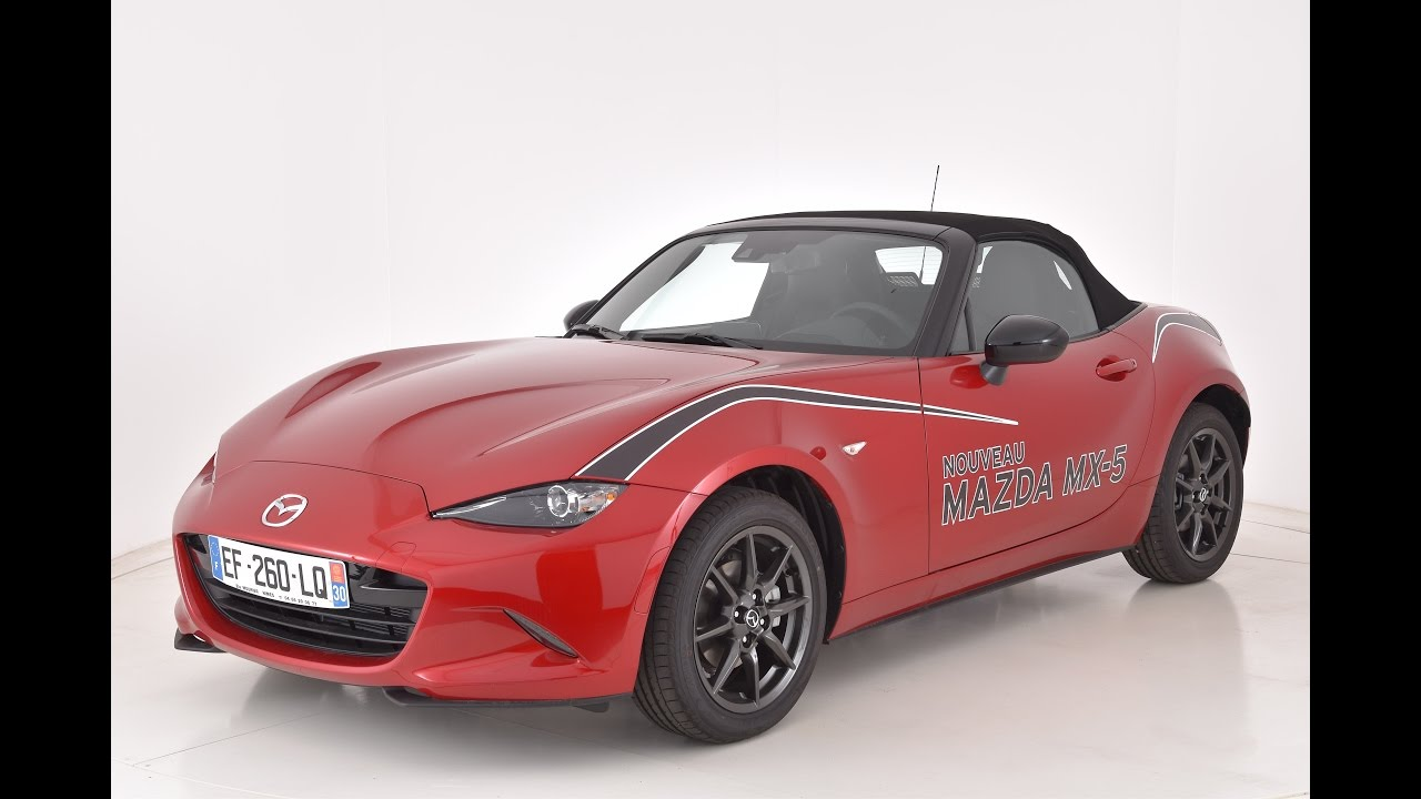 mazda mx 5 1 5l skyactiv g 131 ch dynamique rouge rubis youtube. Black Bedroom Furniture Sets. Home Design Ideas