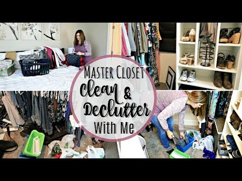 CLOSET DECLUTTER & CLEAN WITH ME 2018 :: EXTREME CLEANING MOTIVATION :: DECLUTTERING TIPS