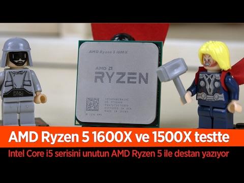 """AMD Ryzen 5 geldi Intel Core i5 bitti! """"Ryzen 5 1600x ve 1500x inceleme"""""""