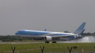 JetairFly Belgium 767-341ER OO-TUC Landing and Takeoff | 05L EGCC/MAN | 10th July 2013