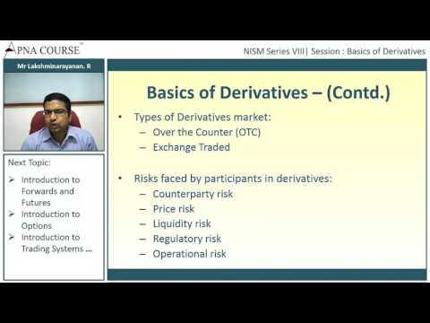Basics of Derivatives - NISM Series VIII Equity Derivatives