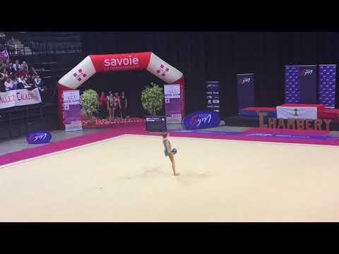 Hélène Karbanov démo ballon - France Chambéry 2018