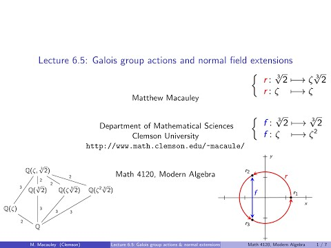 Visual Group Theory, Lecture 6.5: Galois group actions and normal field extensions