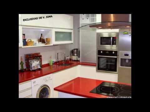 Cocinas gales disenos doovi - Cocinas color burdeos ...