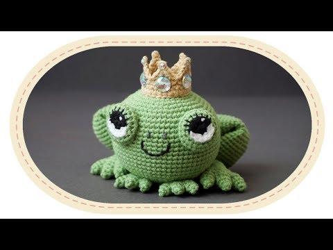 free crochet frog pattern … | Käsityö, Virkkaus, Virkattu lelu | 360x480