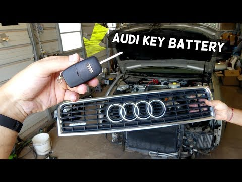 AUDI A3 A4 A6 A8 KEY BATTERY REMOTE CONTROL BATTERY REPLACEMENT