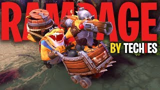 Techies  Rampage  Report - DotA 2 Funny Moments