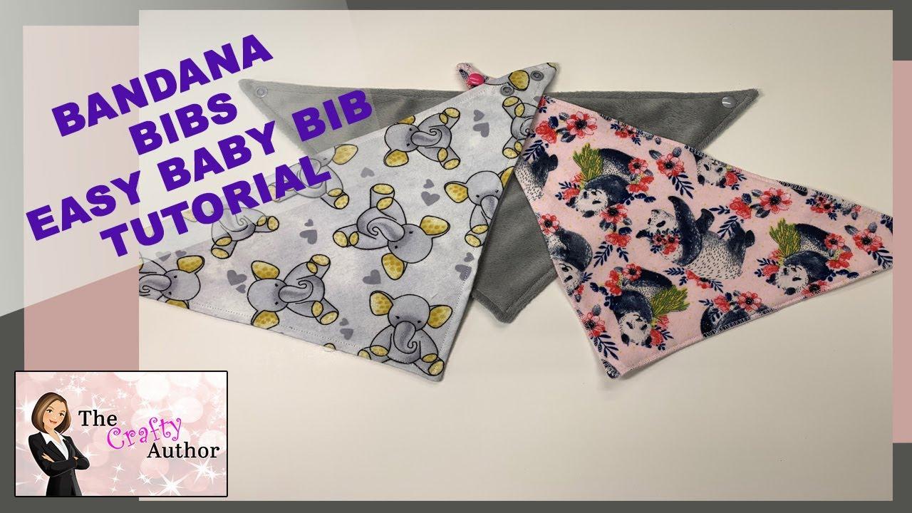 Bandana Bibs Easy Baby Bib Tutorial