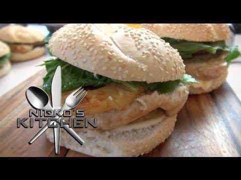 HAWAIIAN CHICKEN BURGERS - Nicko\'s Kitchen - YouTube