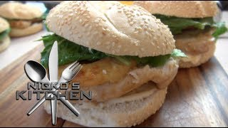 Hawaiian Chicken Burgers - Nicko's Kitchen