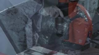 Kernbohren mit FEIN: Bohren in Flachstahl