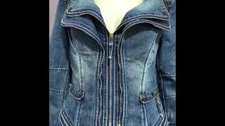 Весна осень 2021 корейская джинсовая куртка женская короткая приталенная куртка в стиле панк
