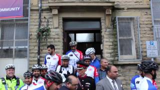 Ride4Peace - Cyclists near end of 600 mile journey