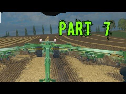 Farming Simulator 2015 Gameplay Walkthrough Playthrough Part 7: Hay Bailing (PC)