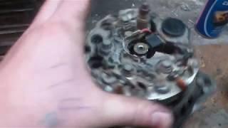 Ремонт генератора ВАЗ 2110. Замена подшипников, и немного о недозаряде.