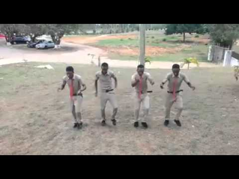 Jamaican High School boys dancing