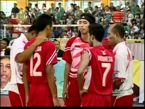 SepakTakraw SEA GAMES 2011 [Thailand-Indonesia]Gold Medal Match Set1
