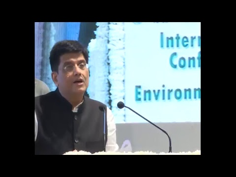 Speaking at International Conference on Environment, in New Delhi