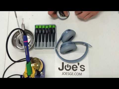 How To Repair Beats By Dre Solo 2 Audio Jack 3.5MM PCB Fix Repair