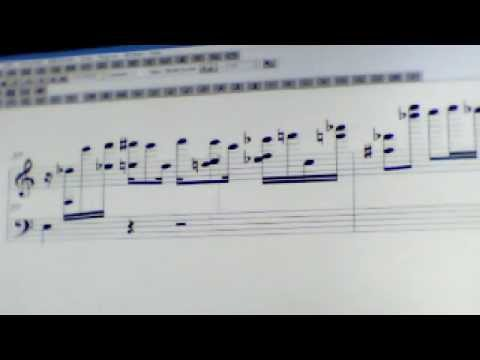 Freeform Piece With Pitch Bends Transcribed from MIDI To Finale