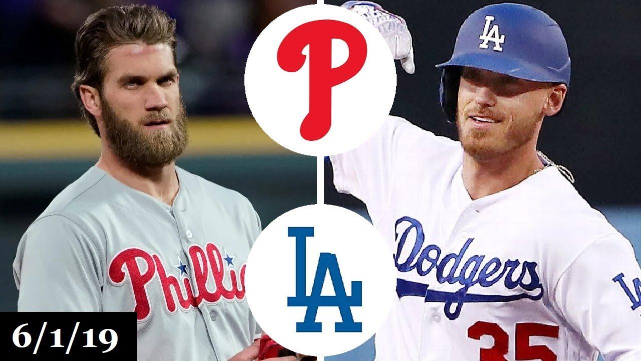 Philadelphia Phillies Vs Los Angeles Dodgers Full Game