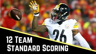 Live 2017 Fantasy Football Mock Draft - Yahoo 12 Team Standard Free HD Video